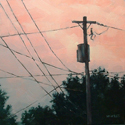 Utility Pole Sunset